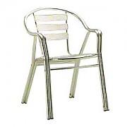 알루미늄 팔거리 곡선 의자