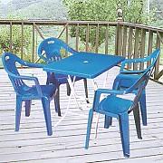접이식 직사각 의자 탁자 Set