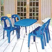 접이식 타원형 의자 탁자Set
