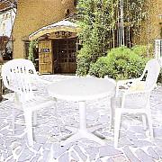 원형 고정 의자 탁자 Set