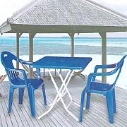 접이식 정사각 의자 탁자 Set